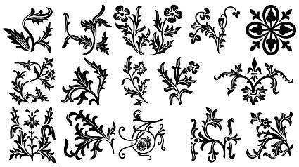 Various types of exquisite europeanstyle lace pattern vector