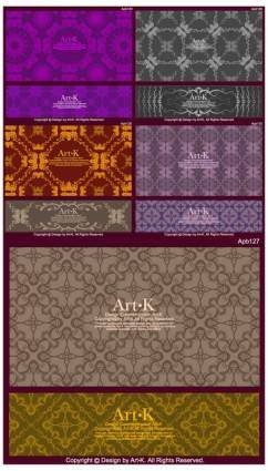 10 retro elegant lace pattern vector