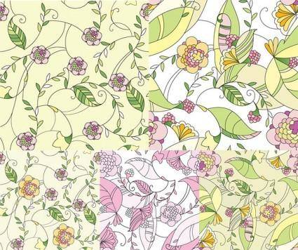 free vector Handpainted pattern vector fashion