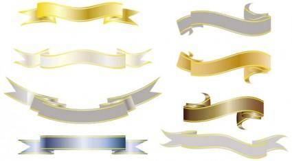 All kinds of ribbons 01 vector