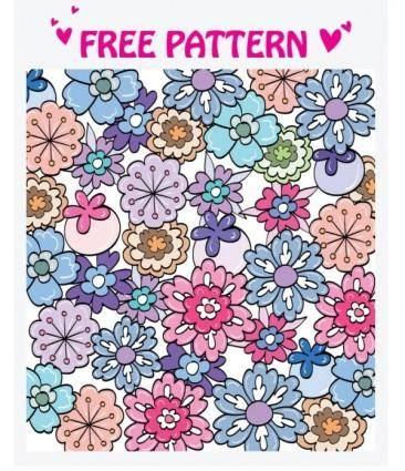 free vector Lovely pattern vector 4