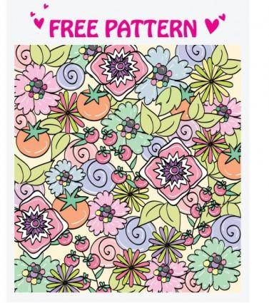 5 lovely pattern vector