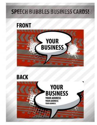 free vector Speech bubble cards 02 vector