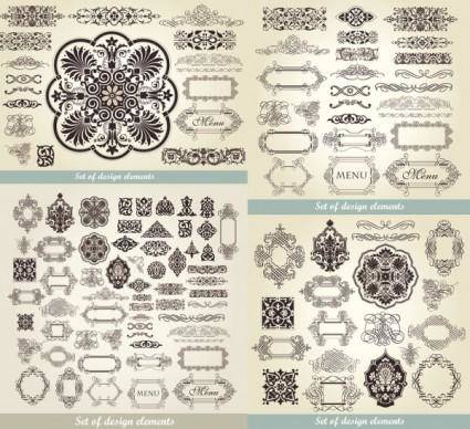 free vector European classic pattern 01 vector