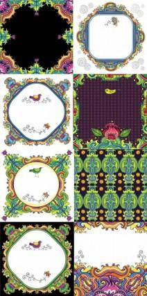 free vector Decorative color pattern vector