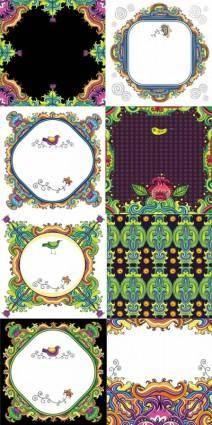 Decorative color pattern vector