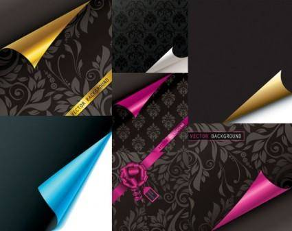 free vector Roll angle of the paper pattern vector