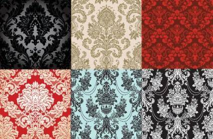 6 shades of fashion pattern vector