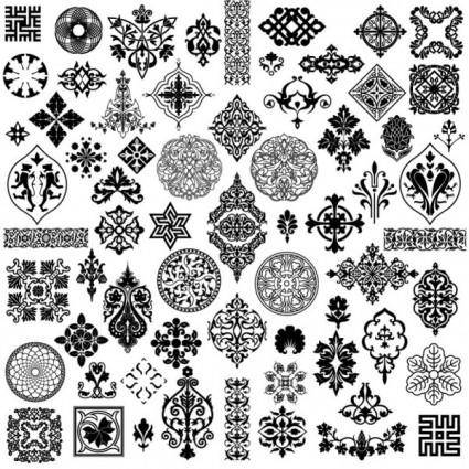 The style of ancient pattern vector