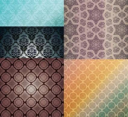 5 beautiful shading pattern vector