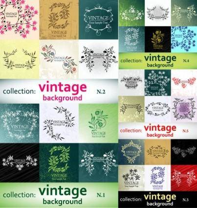 free vector Elegant patterns vector