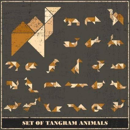 free vector Tangram 05 vector