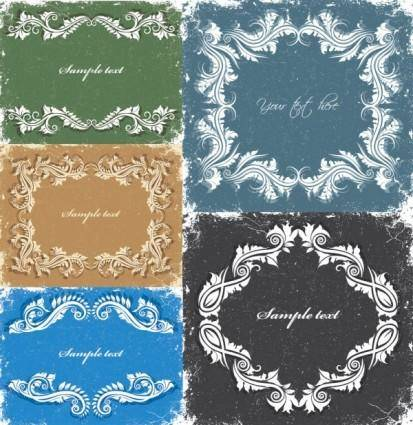 European retro lace pattern vector