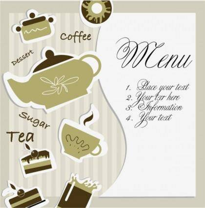 Tea card 01 vector