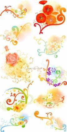free vector Beautiful floral pattern vector series series 1 10p