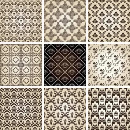 free vector Twobedroom row pattern 01 vector