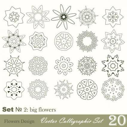 Handpainted pattern style 02 vector
