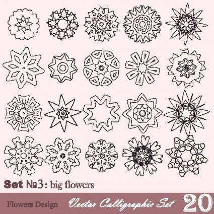 Handpainted pattern style 03 vector