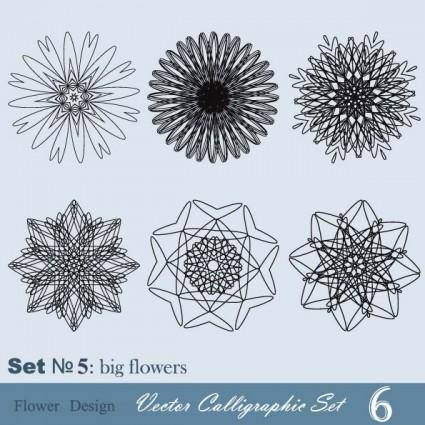 Handpainted pattern style 05 vector