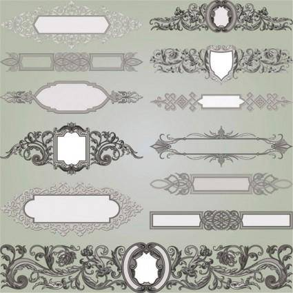 European gorgeous classic decorative pattern vector 1