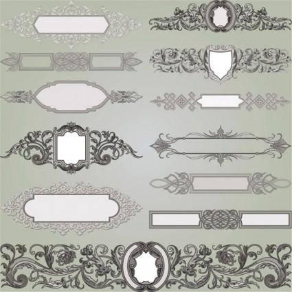 free vector European gorgeous classic decorative pattern vector 1
