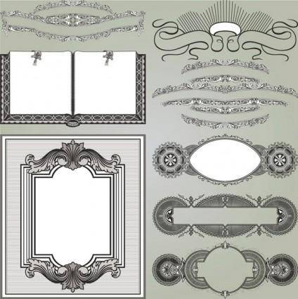 free vector European gorgeous classic decorative pattern vector 2