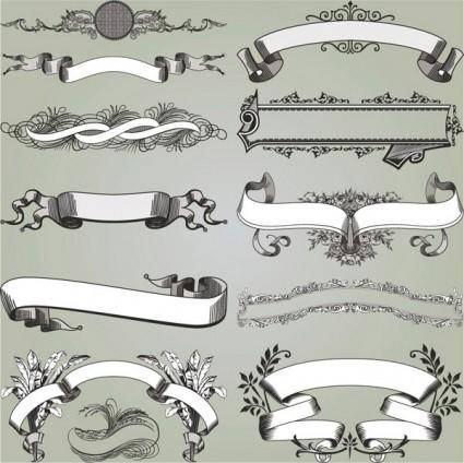 free vector European gorgeous classic decorative pattern vector 3