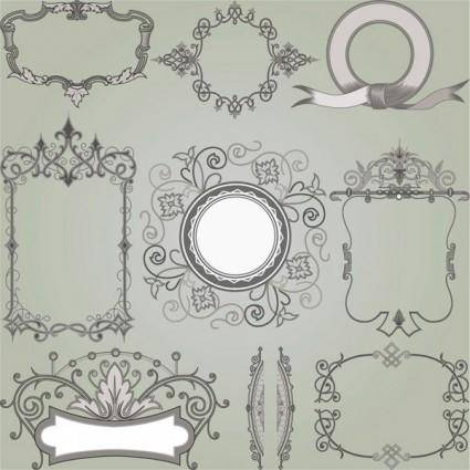 free vector European gorgeous classic decorative pattern vector 5