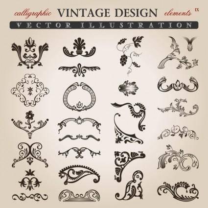 Variety of european pattern vector