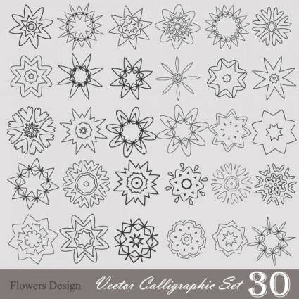 Handpainted pattern style 01 vector