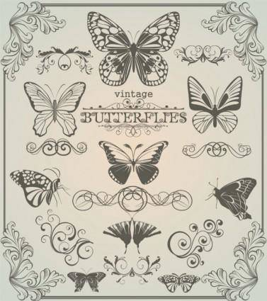 Butterfly pattern 1 vector