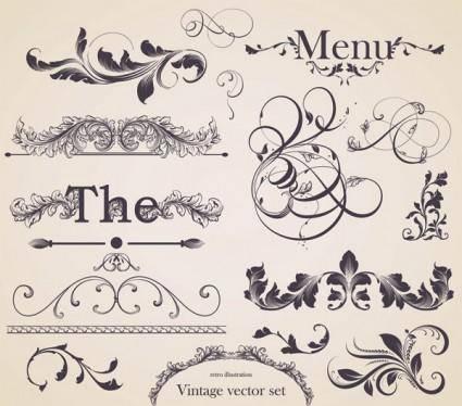 free vector European gorgeous restaurant menu pattern vector 1