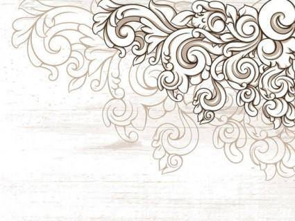 Scene when europeanstyle lace border pattern vector 2
