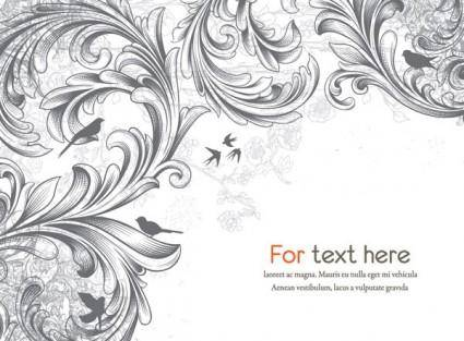 Scene when europeanstyle lace border pattern vector 3