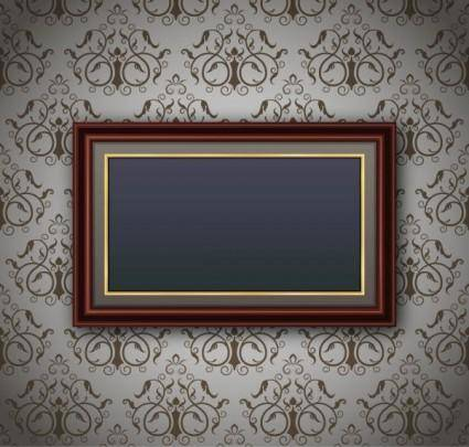 Classic pattern border 02 vector