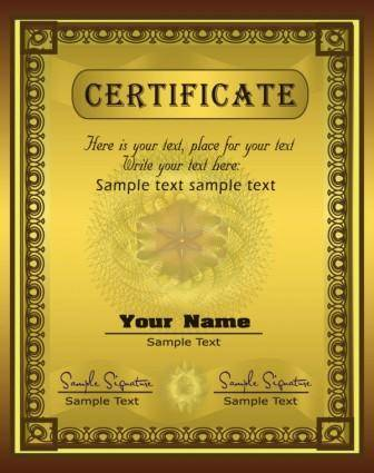 free vector Gorgeous diploma certificate template 03 vector