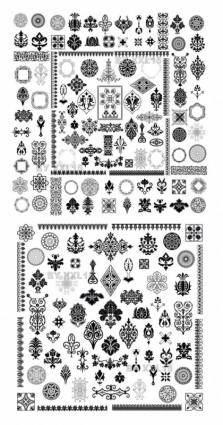 Totem fine pattern vector