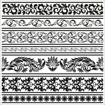 free vector Black and white patterns 04 vector