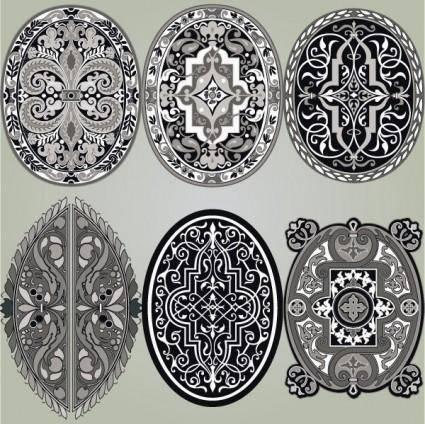 Classic pattern 03 vector