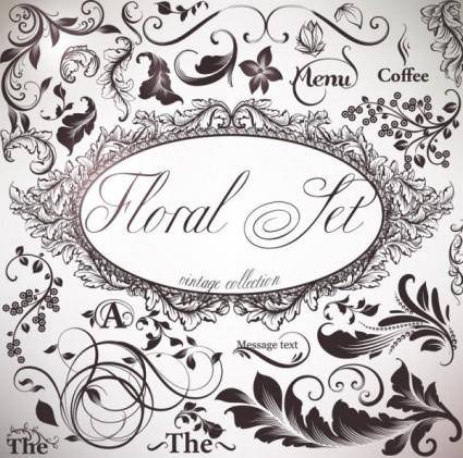 free vector Ornate patterns 05 vector