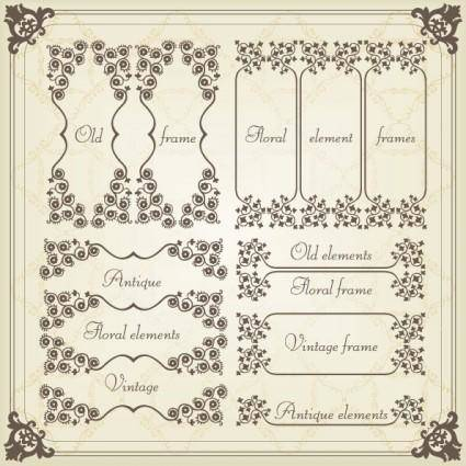European classic pattern 05 vector 23520