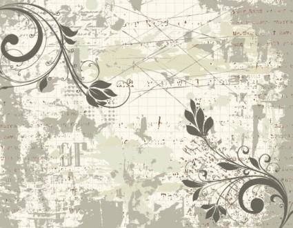 free vector Classic handpainted pattern 03 vector