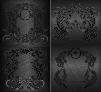 free vector Gray drawing pattern vector
