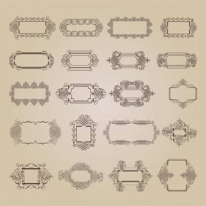 free vector Exquisite decorative patterns 02 vector
