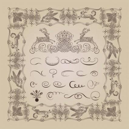 Exquisite decorative patterns 04 vector