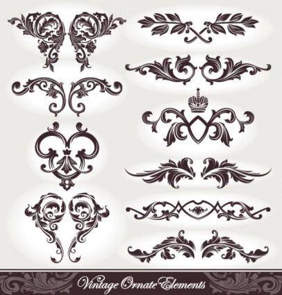 free vector European pattern patterns 05 vector