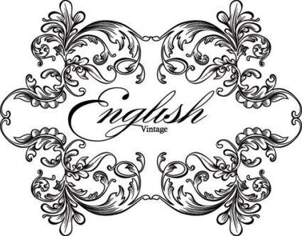European gorgeous classic lace pattern vector 5