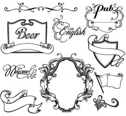 free vector European gorgeous classic lace pattern vector 1