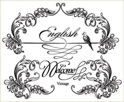 European gorgeous classic lace pattern vector 4