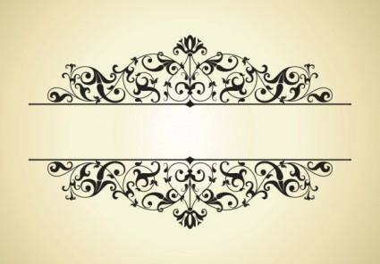 free vector Beautiful lace pattern 01 vector